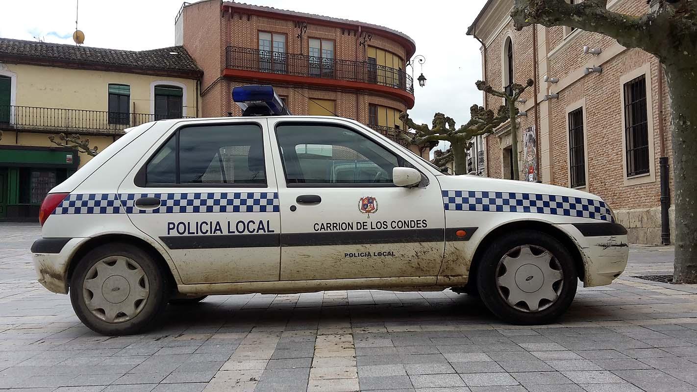 Spanisches Polizeiauto
