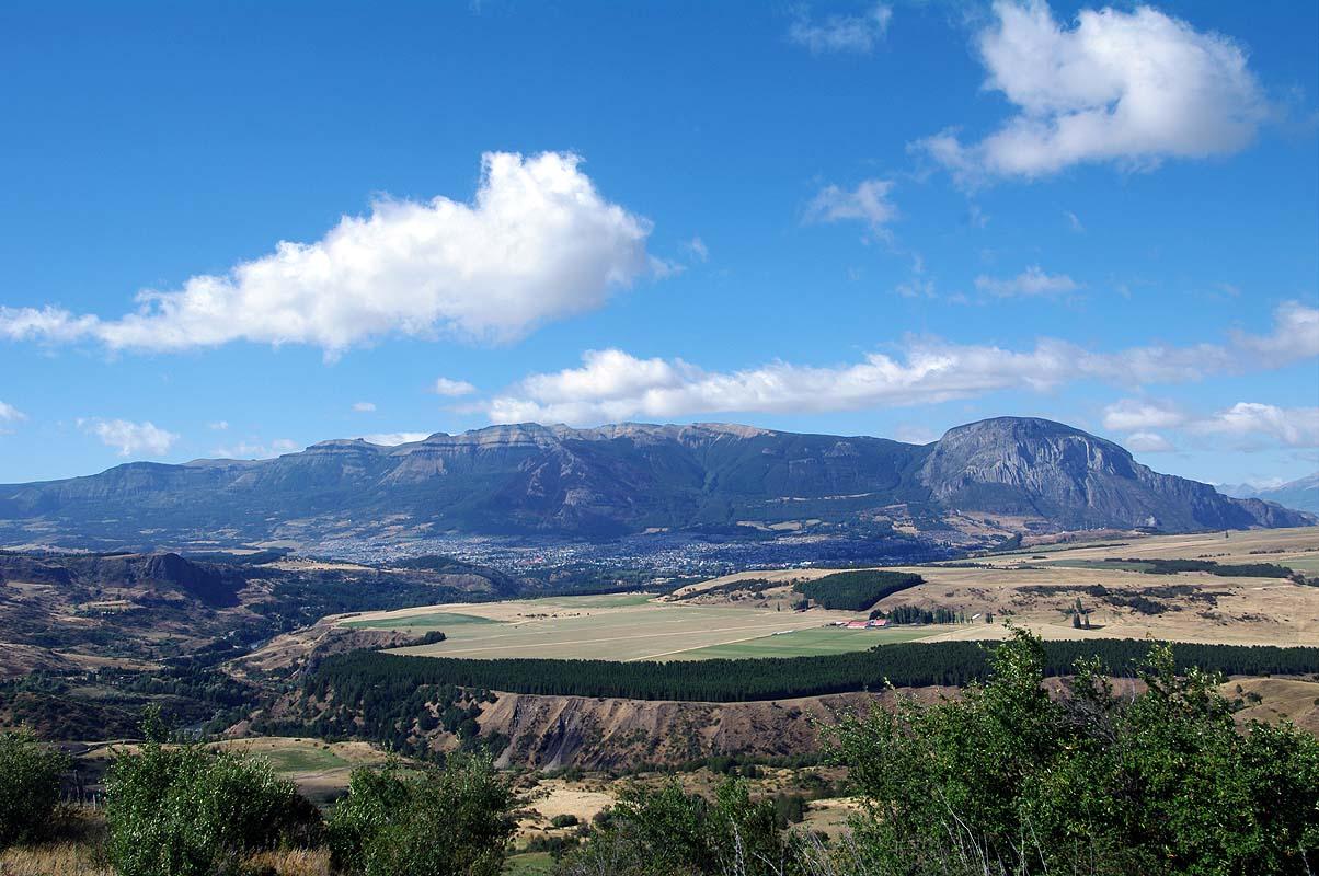 Blick zurück auf das Tal von Coyhaique