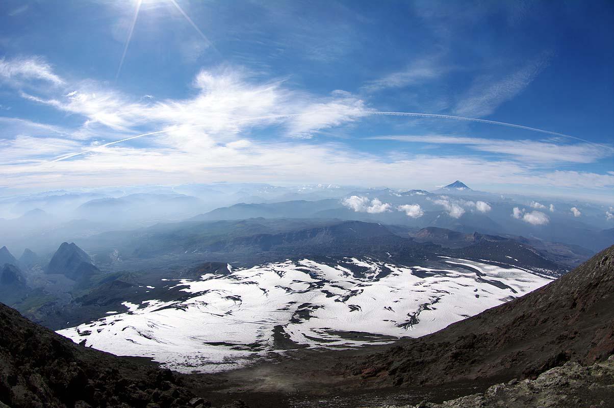 Gipfelpanorama Vulkan Villarrica