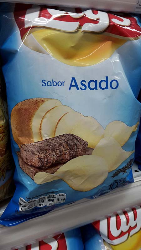 Argentinisches Nationalgericht in Chips-Form