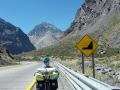 Auf dem Weg zum Andenpass mit Wind