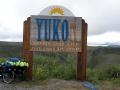 Grenze Yukon in Kanada