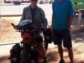 Mark (Australier) kurz vor seiner 1000 km Schotterpiste