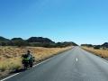 Auch der Stuart Highway ist nicht immer flach und langweilig ebenso wenig