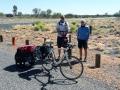 Tim (Australier) auf dem Weg von Darwin nach Adelaide