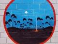 Wandmalereien auf Campground in Alice Springs