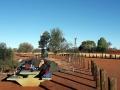 Camp auf Rastplatz mit Wassertank
