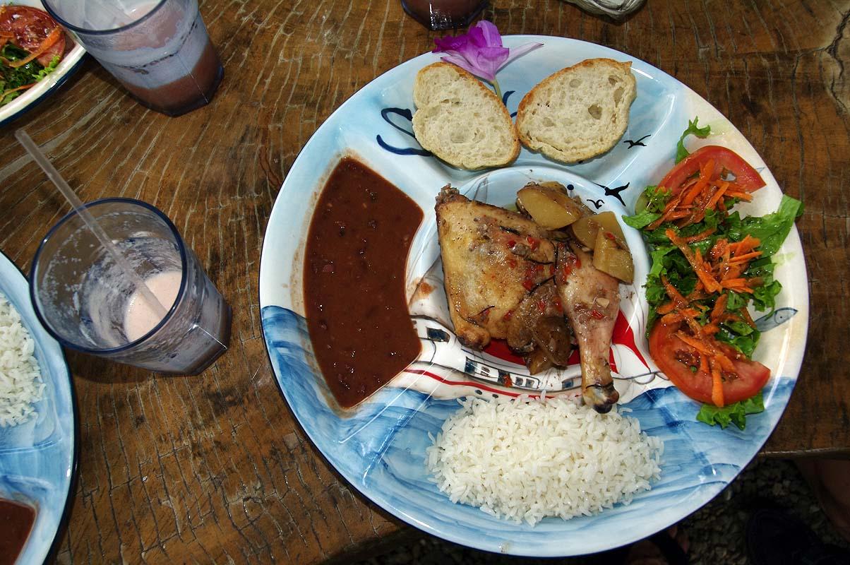 Lecker Essen auf Costa Rica