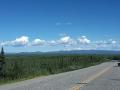 Seltene Aussicht vom Klondike Highway