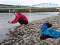 Tägliches Bad in sehr kalten Flüssen/Seen