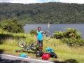Erster Platten nach 2750km in Neuseeland. Mantel hielt damit über 4000km