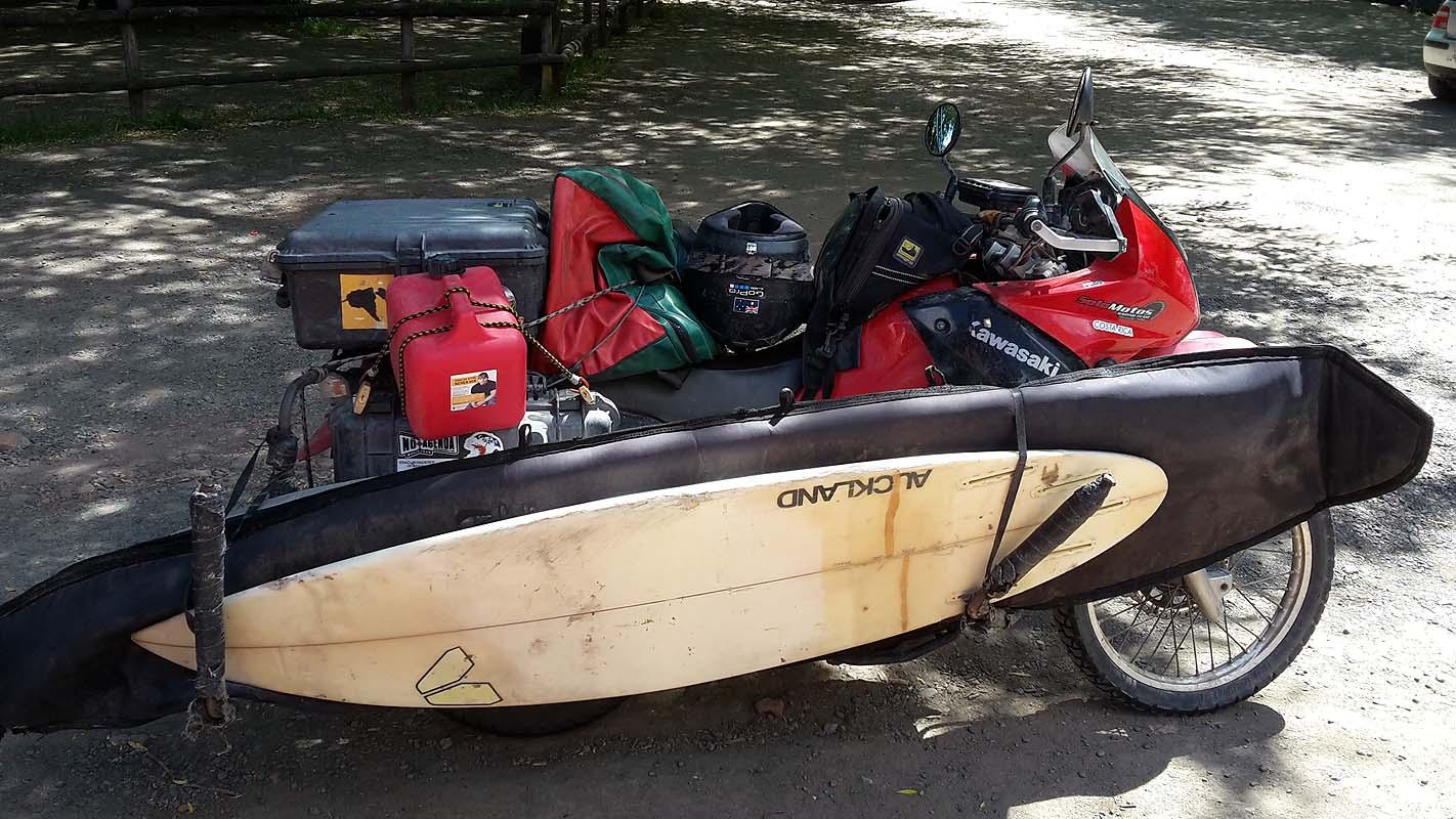 Alles dabei, geht auch mit dem Motorrad :)