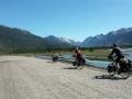 Traumhafte Straße von El Chalten zum Lago del Desierto zusammen mit Nino und Bob