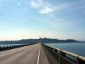 6 km lang und über 4 % Steigung auf der Brücke nach Astoria
