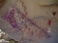 Wandmalereien von Indianern