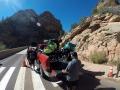 Fahrt zum Zion geht nur via Tunnel wo Räder verboten sind -> Pickup hieß die Lösung für uns