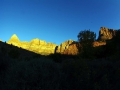 Sunset im Zion NP vom Campground aus